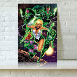 $enCountryForm.capitalKeyWord Australia - Green Lantern,1 Pieces Canvas Prints Wall Art Oil Painting Home Decor (Unframed Framed) 24X36.