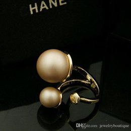 real gold ring designs Australia - Famous design 18K Real Gold Top quality brass with pearls cross design for women Rings Jewelry Free Shipping PS5464