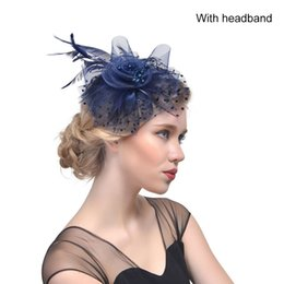 Wedding hair nets online shopping - Party Hair Accessories Hair Clip Feather Net Yarn Headband Bridal Fascinators wedding Hat dancing party