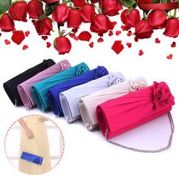 $enCountryForm.capitalKeyWord NZ - Fashion Women Evening Party Clutch Bag Purse Wallet Satin Prom Wedding Handbag with Chain Ladies Satin Party Prom Bridal Handbag