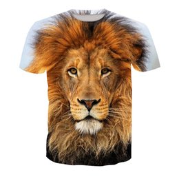 e5e3ccd70 Men T-shirt Lion 3D Digital Full Printed Man Graphic Tee Shirt Casual Tops  Unisex Short Sleeves Tees T-Shirts Blouse (RT-1332)