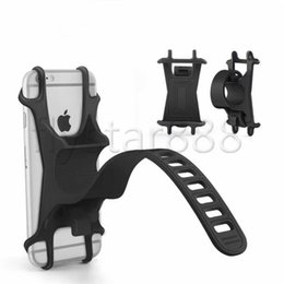 Wholesale Silicone Bike Handlebar Cell Phone Holder CAR Bracket Mount Bump Protection Shockproof Elastic Antislip For iphone xs max xr plus S10 S9