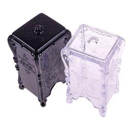 Box Jewelry Storage Organizer Black Australia - Storage Box Makeup Cotton Pad Cosmetic Organizer Jewelry Case Storage Box Holder Butterfly #48095