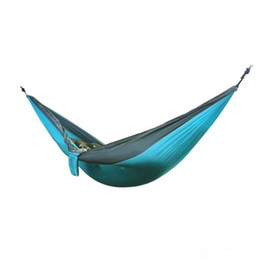 car color mixing NZ - Portable Nylon Parachute Double Person Hammock Garden Outdoor Camping Mixed Color Safe Outdoor Parachute 270 X 140cm Travel Hammock CH001