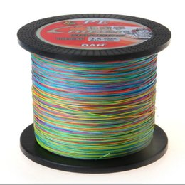 China 1000M Chromatic Multicolored Cost-effective Super Cast 8 Strands Braided Fishing Line 10-170LB PE line Hi-grade Performance High quality suppliers