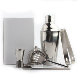 Discount bar shaker kit - Wine Shaker Mixer Stainless Steel Boston Cocktail Shaker Set Wine Martini Drinking Party Bar Tool Shaker Kit 250 350 550