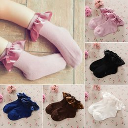 tutu socks girls Australia - Fashion Baby Girls Kids Socks Cotton Lace Breathable Non-Slip TUTU Socks Frilly Ankle Socks 2-8Y