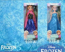 Frozen toys dolls online shopping - 31CM Frozen Snow and ice princess wonder doll Anna princess doll set American PVC Kawaii Children Toys Anime Action Figures
