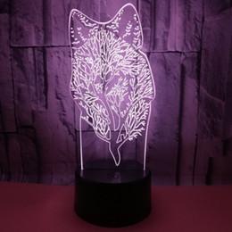 $enCountryForm.capitalKeyWord Australia - Keepsake Advertisement Originality Wolf 3d Small Night-light Animal 3d Gift Customized Touch Remote Control 3d Small Desk Lamp