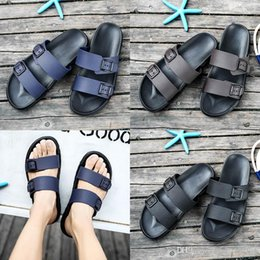 Brown Beach Sandals Australia - high quality designer sandals Brand Slippers Blue black Brown Shoes Man Casual Shoes Slippers Outdoor Beach Slippers EVA light Sandals