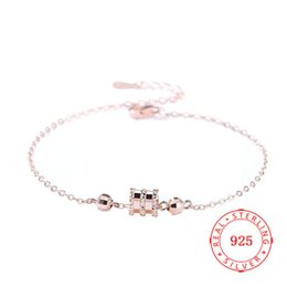 $enCountryForm.capitalKeyWord NZ - charm sterling silver handmade circle and bead bracelet hot sell jewelry China fashion silver jewelry products