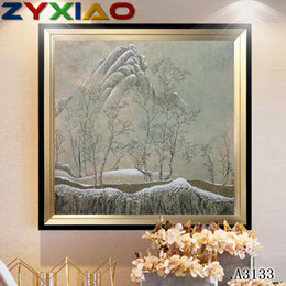 snow spray wholesale NZ - ZYXIAO Poster And Prints Wall Art Canva Painting mountain snow forest Wall Pictures For Living Room color Decoration No Frame painting A3133