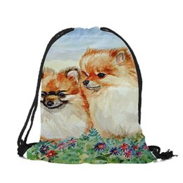 $enCountryForm.capitalKeyWord UK - Children Backpack Cute Animal Dog Print School Bags Casual Practical Drawstring Backpacks for Women Men Sports Shopping Travel