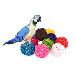 $enCountryForm.capitalKeyWord Australia - Pet Bird Cage Accessories Parrot Bird Toys Colorful Rattan Small Pet Articles In The Swing Toy Random Color For Parrots
