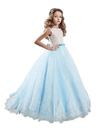 Kids Graduation Clothes Australia - Kids Clothing Party Brithday Girl's Pageant For Teens Wedding Party Flower Girls Dress