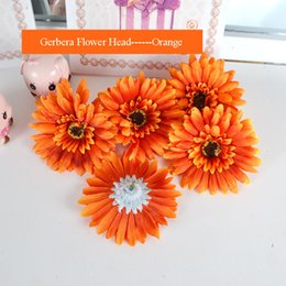 Gerbera Flower Decoration Australia - 10pcs lot simulation Gerbera flower head for wedding photography props decoration flowers fake wreath artificial Gerbera flower head