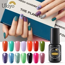 Discount yellow turquoise stone Ukiyo 8ml UV Gel Nail Polish Long-Lasting Nail Art Gel Semi Permanent Manicure Soak-Off Nail Gel Varnish Top Base Coat N