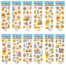 $enCountryForm.capitalKeyWord Australia - &12 sheets lot 3d Cartoon the Pooh Kids Stickers Toys Bubble stickers Teacher Lovely Reward kids gift adhesive