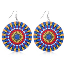 $enCountryForm.capitalKeyWord Australia - Fashion Popular Personality Variety Of Wooden Kaleidoscope Flowers Colorful Round Earrings Girls Jewelry Earrings Good-Looking Style