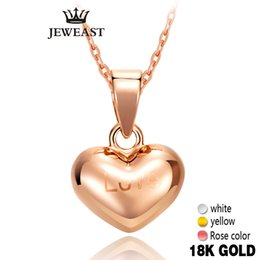 $enCountryForm.capitalKeyWord Australia - 18k Pure Gold Pendant Hearts Rose Yellow Love Cute Fine Jewelry Girl Miss Gift Discount Exquisite Trendy Charms Women Hot Sale Y19052301