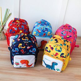 kids dinosaur backpacks Canada - Dinosaur Printing Nylon Children Backpacks Kids Kindergarten School Bags Backpacks Baby Boys Girls Nursery Toddler Cute Rucksack