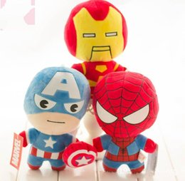 $enCountryForm.capitalKeyWord NZ - The avengers plush dolls toy spiderman toys super heroes avengers Alliance marvel the avengers dolls 2Q version Free Shipping Free Delivery