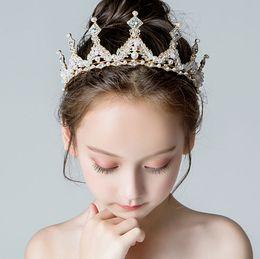 Kids wedding headbands online shopping - Beauty Gold Flowers Girls Head Pieces Flower Girls Head Pieces Girls Headbands Girl s Wedding Tiara Crown Kids Accessories H323011