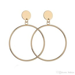 America Brass Australia - Simple Circle Ear Studs 2018 Popular Europe and America Style Hoop Earrings for Womens Jewelry Accessories