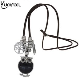 Stylish Pendants For Women NZ - ashion Jewelry Necklace Yumfeel Vintage Tibetan Silver Stylish Gallant Sparkling Owl Charming Flossy Necklaces & Pendants For Women J...