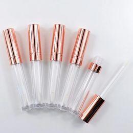 $enCountryForm.capitalKeyWord Australia - Wholesale Rose Gold 6.5ml Empty Lip Gloss bottle Round Lip Gloss Bottle Container Transparent Lip Gloss Tube Cosmetic Lipgloss Packaging