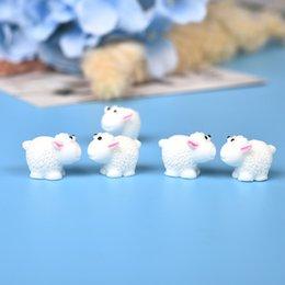 10 Pz / set Cute Mini Animali Hedgehog Pecore di pollo Fairy Garden Figurine Miniature Home Micro Miniature Decor Accessori fai da te