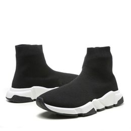 Chinese  Designer Shoes Speed Trainer Black Red Oreo Triple Black Flat Fashion Socks Boots Sneaker Speed Trainer Runner Casual Sneaker With Dust Bag manufacturers