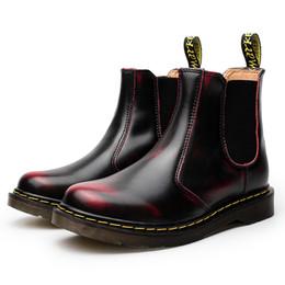 Venta al por mayor de Doc Martins Británico Vintage clásico genuino Martin botas masculinas gruesas talón motocicleta zapatos de mujer Dr Martins DHL envío de la gota