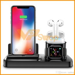 $enCountryForm.capitalKeyWord Australia - Super Practical 3 in 1 Magnetic Charging Stand For IPhone Iwatch Airpods Wireless Charger Stand Qi Fast Wireless Charger Dock