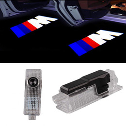 led lights bmw Canada - Car Door LED Logo Projector Ghost Shadow Welcome Lights For BMW M 3 5 6 7 Z GT X Mini Symbol Emblem Courtesy Step Lights Kit