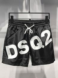 2019 мужская ds2 пляжные шорты мужчины плавки значок печати настольные шорты мужские короткие брюки черный мужской бренд пляжные шорты тренировочные брюки на Распродаже
