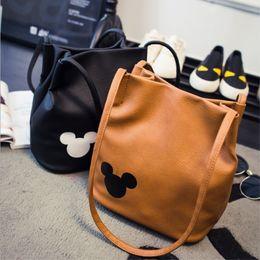 $enCountryForm.capitalKeyWord Australia - Women famous brand Mickey handbag PU Leather Organizer Small Cute Bucket Bag Messenger bags Women Feminina Bags Bolsos 5 colors Y190606