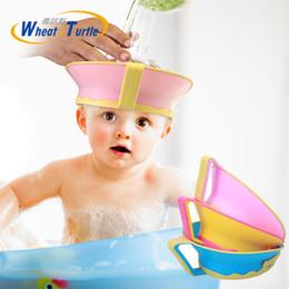 Baby Wash Hair Australia - Baby Kids Bath Cap Visor Hat Adjustable Shower Shampoo Protect Eye Ears Hair Wash Shield Waterproof Splashguard for Children In