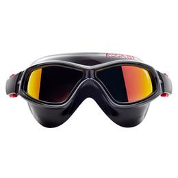 Silicon maSkS online shopping - Mirrored Swimming Goggles Silicon Large Frame Swim Glasses Waterproof Anti Fog UV Eyewear Men and Women Mask