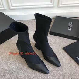 Thin Tie fashion online shopping - 2019 Slip On Peep Toe Thin Heel Woman Short women Boots leather Fashion Spring Autumn Female Ankle Boots Black
