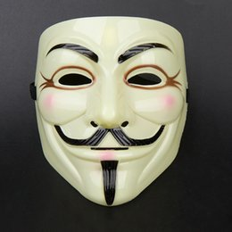 V Vendetta Cosplay UK - 20pcs V for Vendetta Mask Guy Fawkes Anonymous Halloween Fancy Dress Costume Cosplay