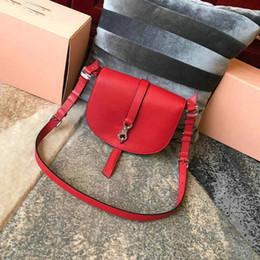 $enCountryForm.capitalKeyWord NZ - 2019 Designer Women Handbags high quality Shoulder Bags Classic Retro Saddle Bag Genuine Classic red Purses Diagonal Package Free shipping
