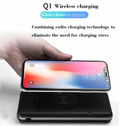 Portable Battery Charger Cell Phones Australia - New Qi 2A Wireless Power Bank Fast Charger with Multifunction 10000 20000mAh Battery Portable Cell Phone Charger For iphone x samsung s9 etc