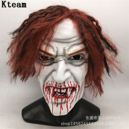 Back Hair Men Australia - Halloween Zombie Mask Props Grudge Ghost Hedging Zombie Mask Realistic Masquerade Halloween Long Hair Ghost Scary Mask
