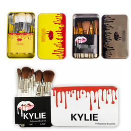 kylie valentine 2019 - NEW Kylie Jenner Makeup 12 Pcs Set Makeup Brush Jenner Brush 12 Pcs Set With Bag Makeup Brushes for Valentines Day Gifts