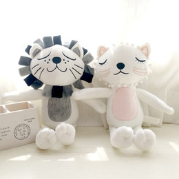 Discount educational puppets Lovely Kitty Lion Doll Cushion Appease A Doll Da Children The Real American Girl Toys Sale