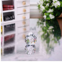 prism glasses Australia - 1Pcs Clear 20mm Faceted Glass Crystal Ball Prism Chandelier Crystal Parts Hanging Pendant Lighting Ball Home Wedding Decor