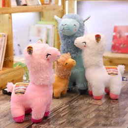 $enCountryForm.capitalKeyWord Australia - 35m Soft Rainbow Alpaca Stuffed Plush Toy Doll Rainbow Horse Lama Animals Toys For Children Birthday Christmas Gifts