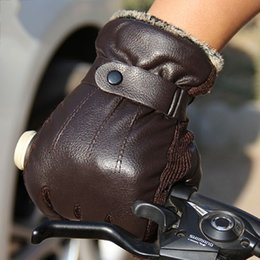 $enCountryForm.capitalKeyWord Australia - New Men PU Leather Short Thin Thick Black Brown Glove Man Gym Luvas Car Driving Mittens 2017 Spring Winter W1