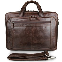 Computers Europe Australia - Europe American Retro Leather Men's Bag Oil Wax Leather Business Bag Briefcase 730-40 Large Handbag 17 Inch Computer #30635